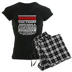 Warning Psychologist Women's Dark Pajamas
