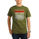 Warning Psychologist Organic Men's T-Shirt (dark)