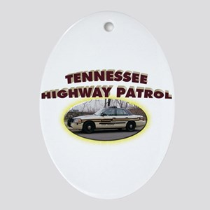 Tennessee Highway Patrol Ornament (Oval)