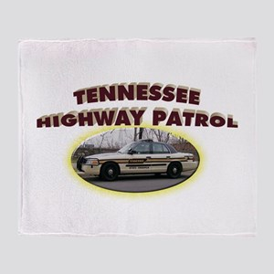 Tennessee Highway Patrol Throw Blanket