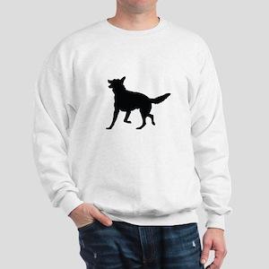 German Shepherd Silhouette Sweatshirt