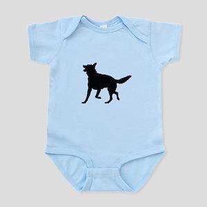 German Shepherd Silhouette Infant Bodysuit