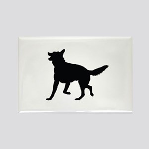German Shepherd Silhouette Rectangle Magnet