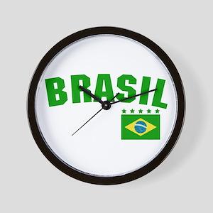 Brazil (Brasil) Wall Clock