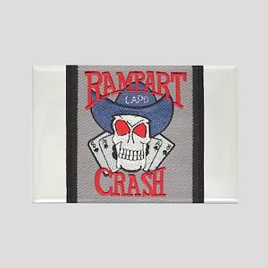 Rampart Crash Rectangle Magnet