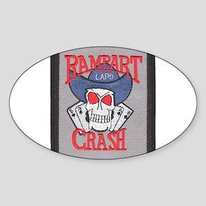 Rampart Crash Oval Sticker