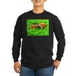 Nuzzling Cows Long Sleeve Dark T-Shirt