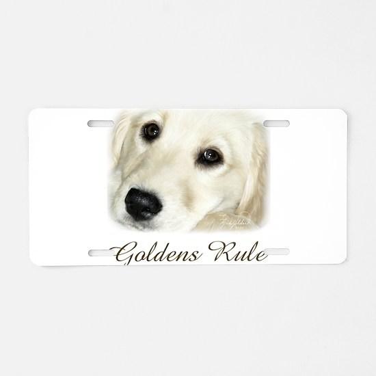 Goldens Rule Aluminum License Plate
