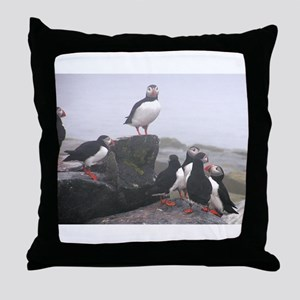 Puffin Conference Throw Pillow