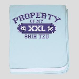 Shih Tzu PROPERTY baby blanket