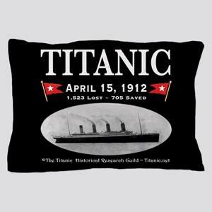 Titanic Ghost Ship (black) Pillow Case