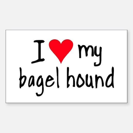I LOVE MY Bagel Sticker (Rectangle)