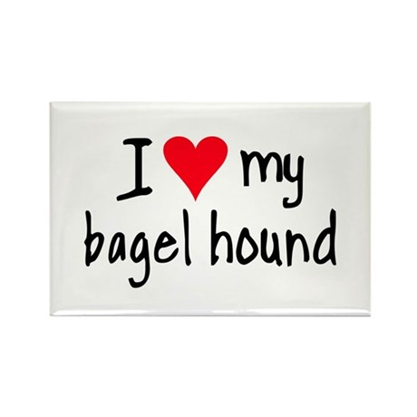 I LOVE MY Bagel Rectangle Magnet