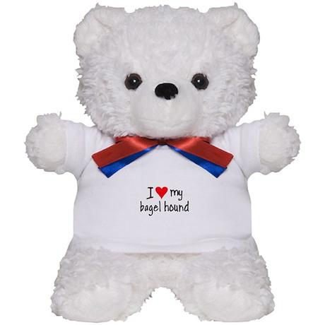 I LOVE MY Bagel Teddy Bear