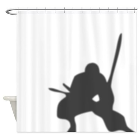 Ninja In The Shower Curtain