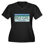 Colorado Rez Grl Women's Plus Size V-Neck Dark T-S