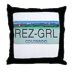 Colorado Rez Grl Throw Pillow