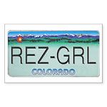 Colorado Rez Grl Sticker (Rectangle)