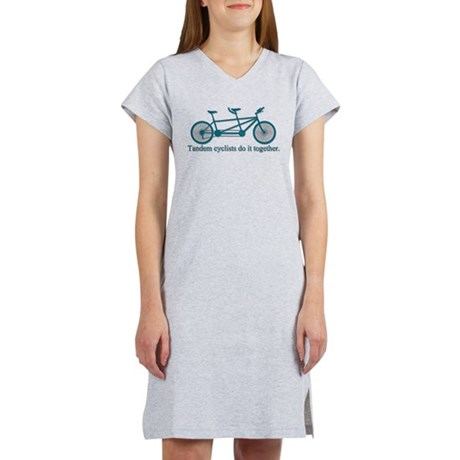 Tandem Cyclists Do It Together Women's Nightshirt