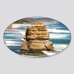 Twelve Apostles Digital Art Oval Sticker