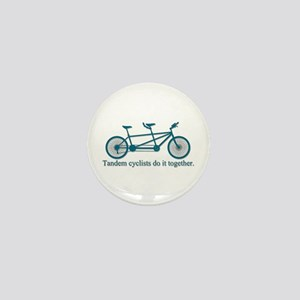 Tandem Cyclists Do It Together Mini Button