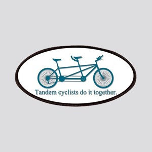 Tandem Cyclists Do It Together Patches