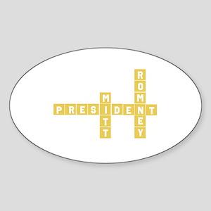 Romney Sticker (Oval)