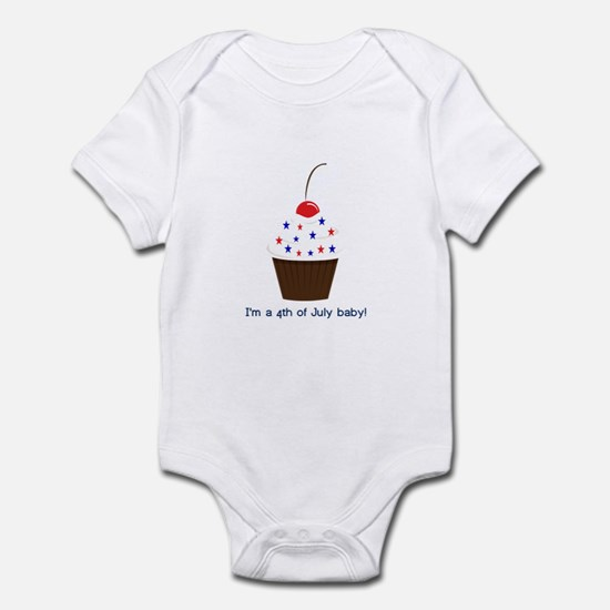4th July Baby Cupcake Infant Bodysuit