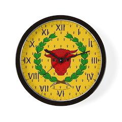 Iron Ox Wall Clock