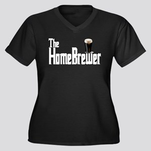 The HomeBrewer Stout Women's Plus Size V-Neck Dark
