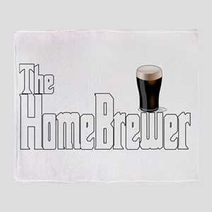 The HomeBrewer Stout Throw Blanket