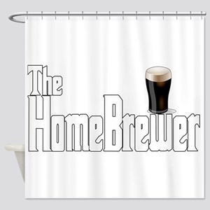 The HomeBrewer Stout Shower Curtain