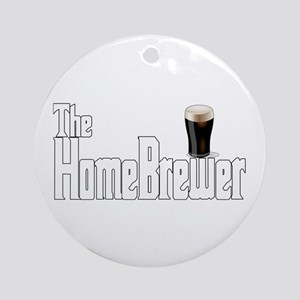 The HomeBrewer Stout Ornament (Round)