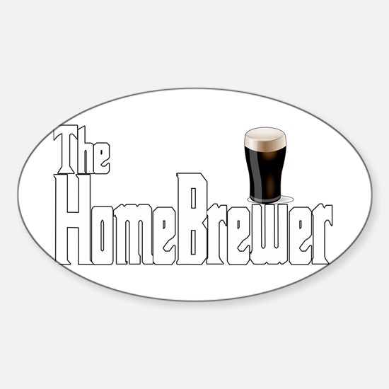 The HomeBrewer Stout Sticker (Oval)