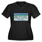 Colorado Rez Girl Women's Plus Size V-Neck Dark T-