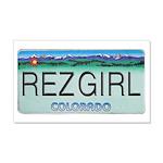 Colorado Rez Girl 22x14 Wall Peel