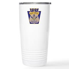 D. O. C. K9 Corps Stainless Steel Travel Mug