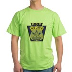 D. O. C. K9 Corps Green T-Shirt