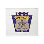 D. O. C. K9 Corps Throw Blanket