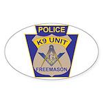 K9 Corps Masons Sticker (Oval)