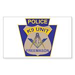 K9 Corps Masons Sticker (Rectangle)