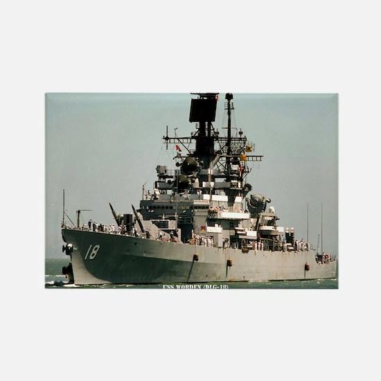 USS WORDEN Rectangle Magnet