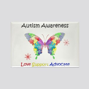 Autism Awareness Butterfly Rectangle Magnet