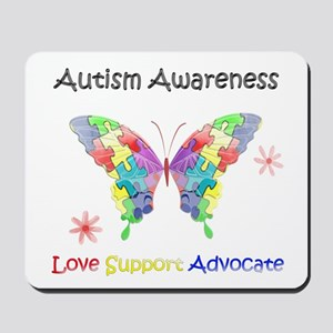 Autism Awareness Butterfly Mousepad