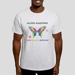 Autism Awareness Butterfly Light T-Shirt