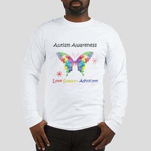 Autism Awareness Butterfly Long Sleeve T-Shirt