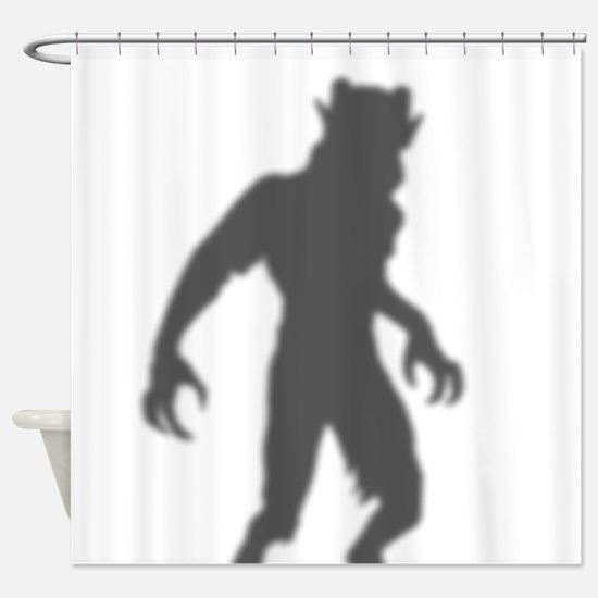 Menacing Demon In The Shower Curtain