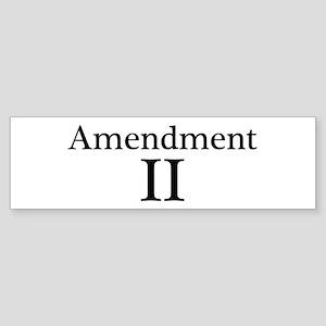 Second Amendment II Sticker (Bumper)