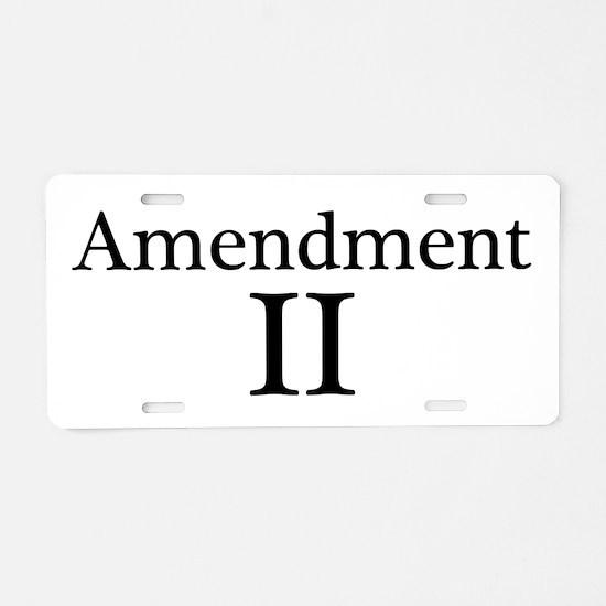 Second Amendment II Aluminum License Plate
