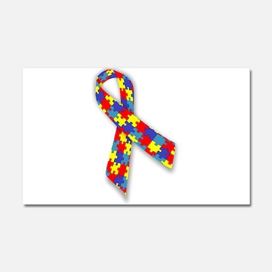 Autistic Awareness Ribbon Car Magnet 20 x 12